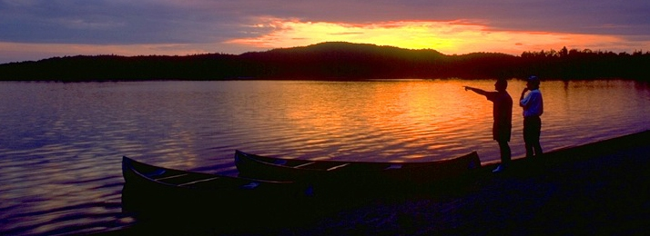 sunset in the Boundary Water Canoe Area Wilderness