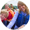 Canoe with your family on the Mississippi River