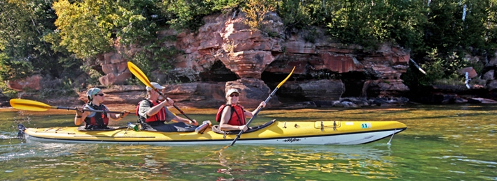 Apostle Island National Lake shore and Lake Superior Sea kayak and Hike Adventures