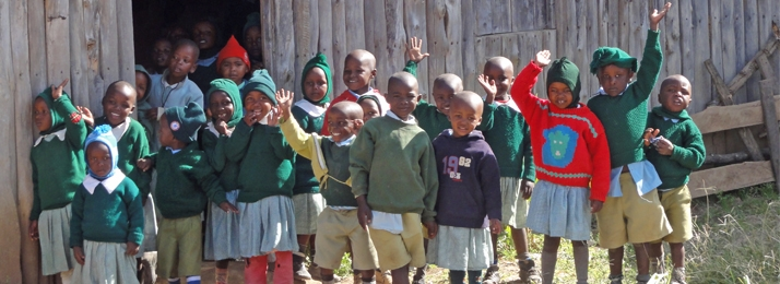 Children from Kambi Primary School. Wilderness Inquiry helped to renovate the primary school which serves around 320 students