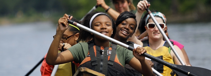 Students from Minneapolis Public Schools paddled on the Mississippi River