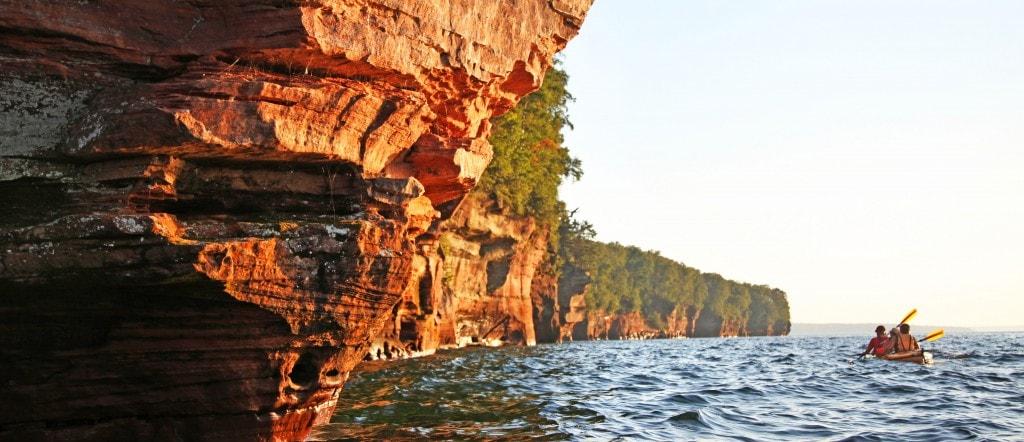 Kayak adventure trip in the Apostle Islands