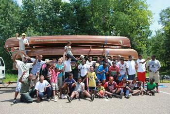 The Ka Joog group at Lake Elmo on an overnight camping adventure