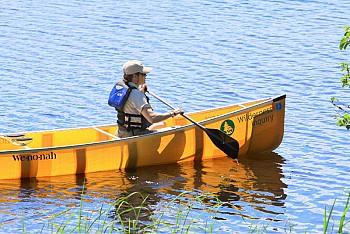 Paddling White Iron Lake In Northern Minnesota