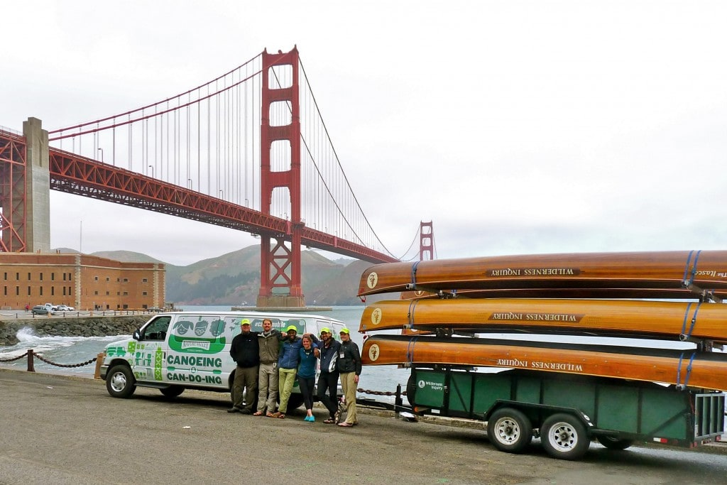 Golden Gate in San Francisco with Canoemobile
