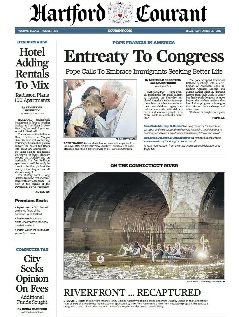 Hartford-Courant-Front-Page - Wilderness Inquiry