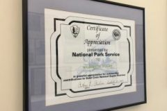 National Park Service Certificate