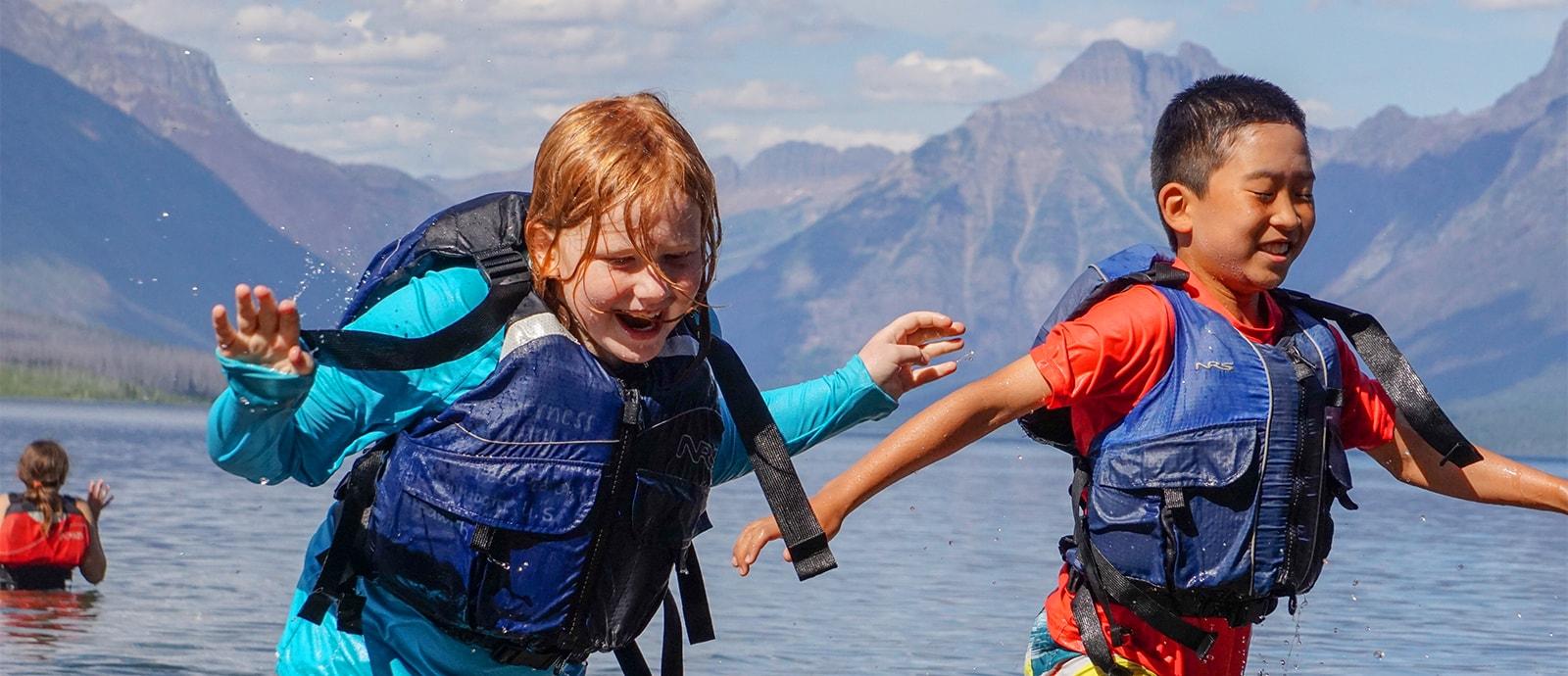 Kids in Glacier