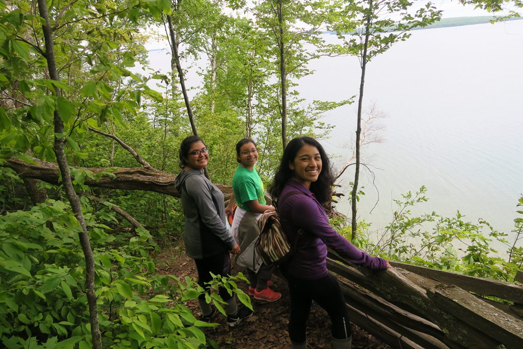 Students from The Woods Project on a hike
