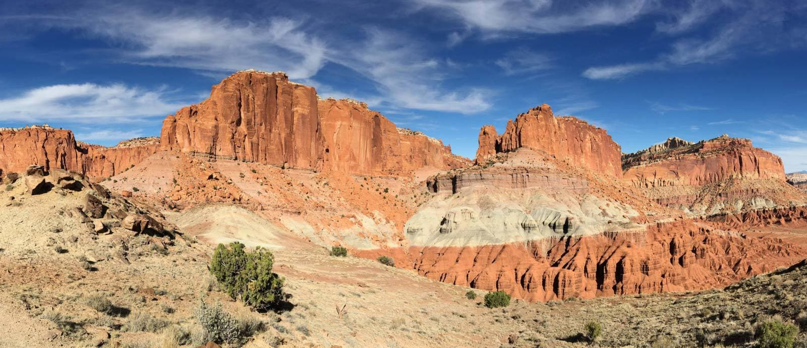 Waterpocket Fold in Utah's Capital Reef National Park