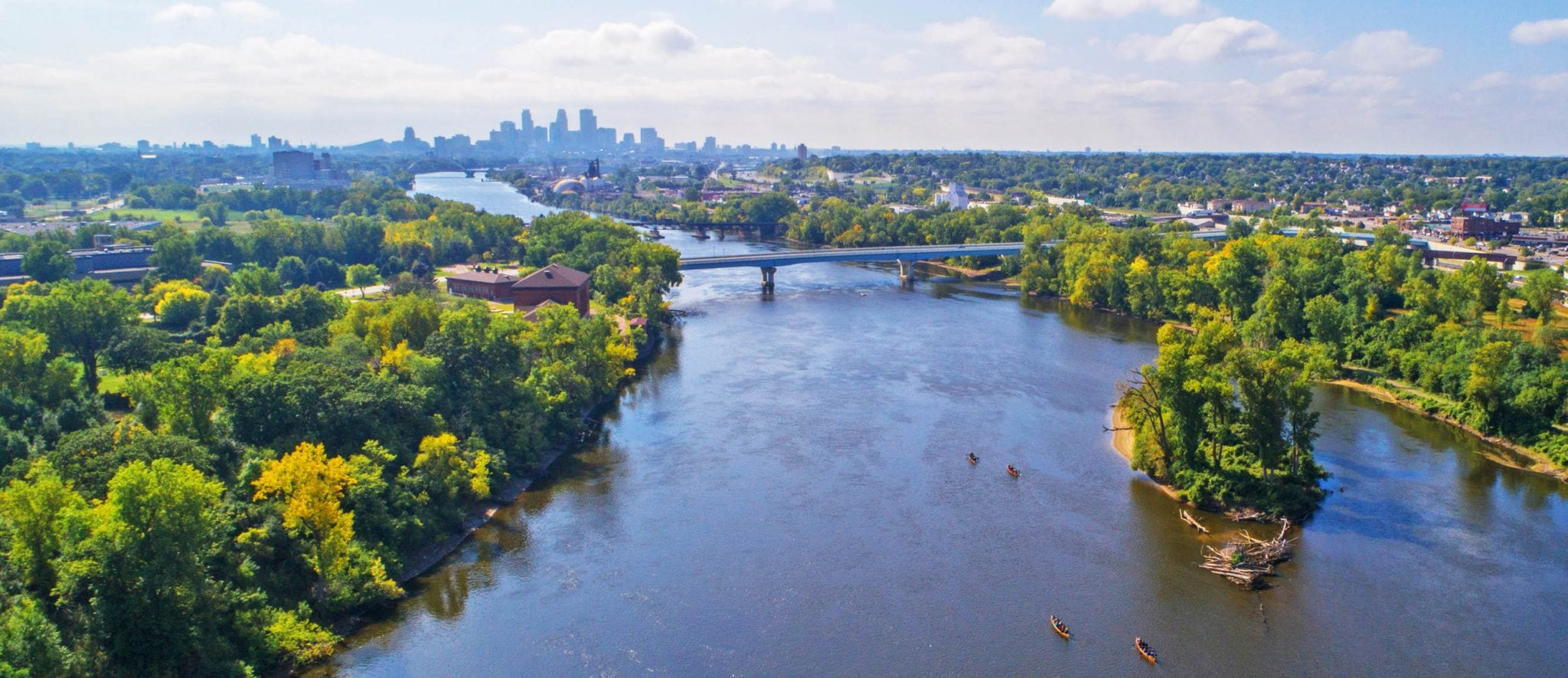 Mississippi River and Minneapolis Skyline