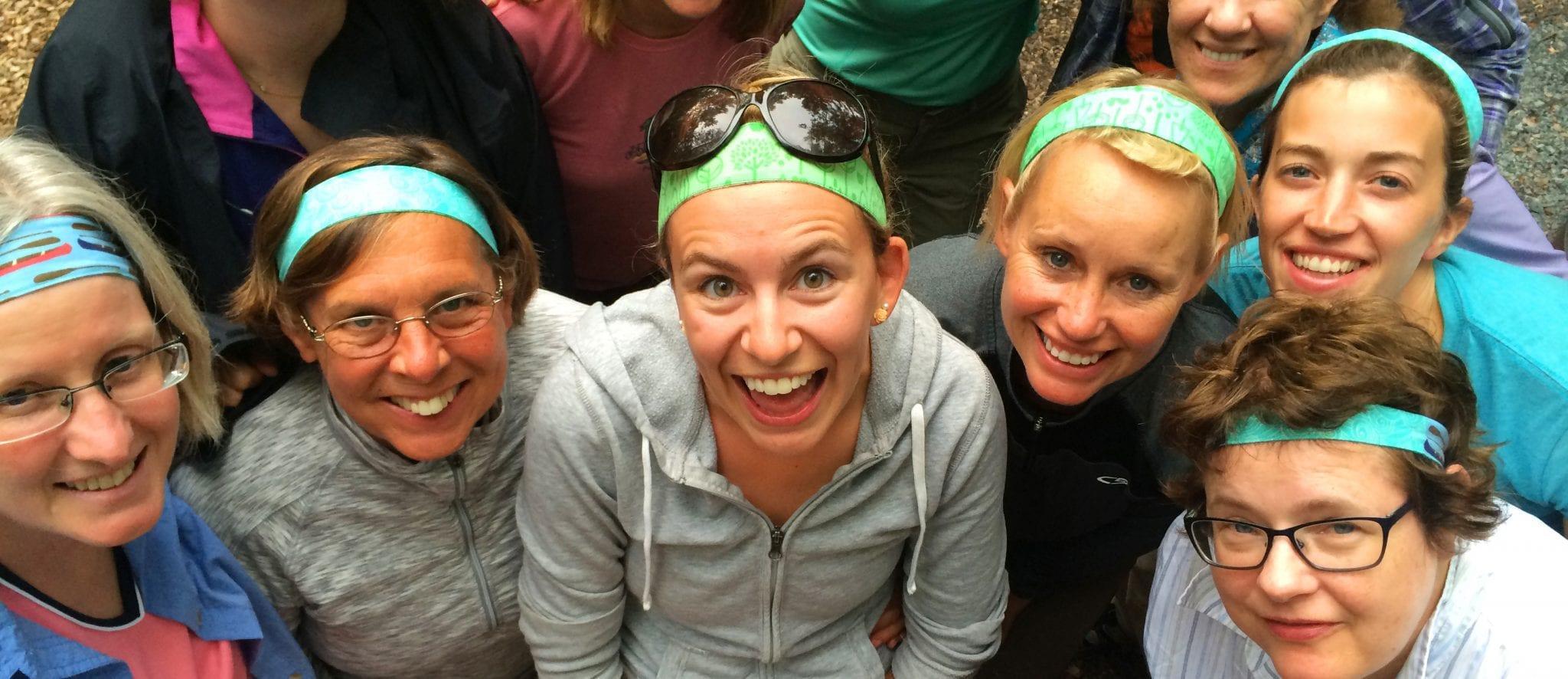 Women smiling at Apostle Islands National Lakeshore