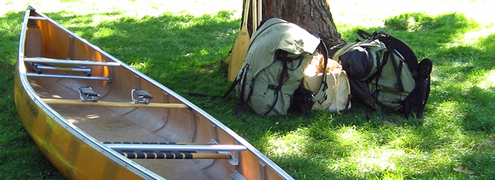 Gear for canoeing.