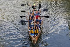 Students paddle on the Kankakee River