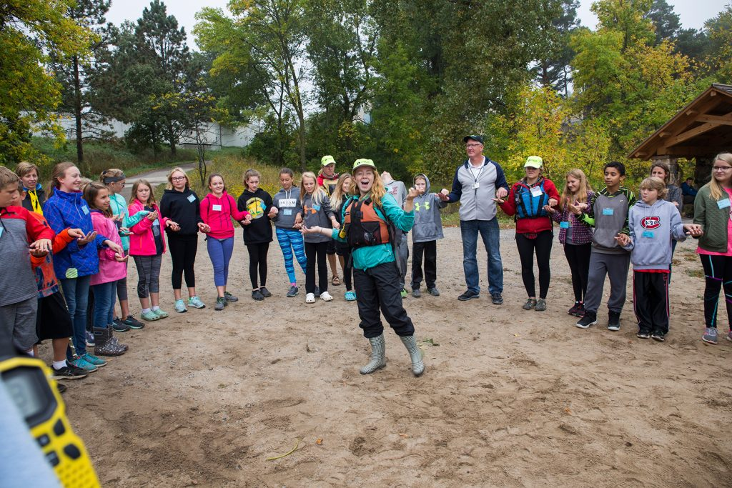 St. Cloud students listen to outdoor leader Becky O'Neil