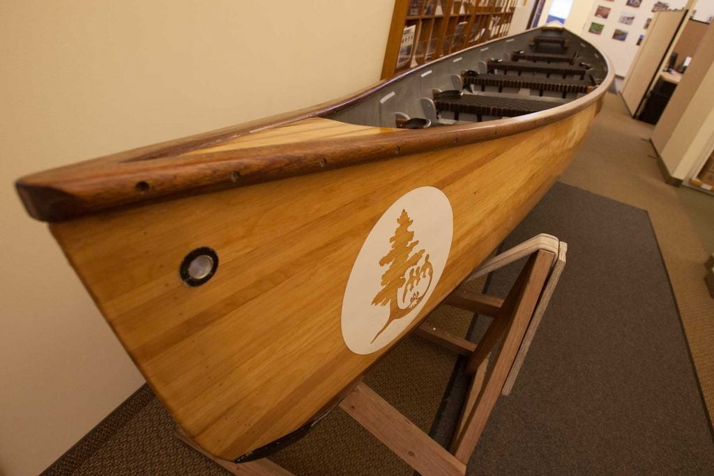 Our newest Voyageur canoe