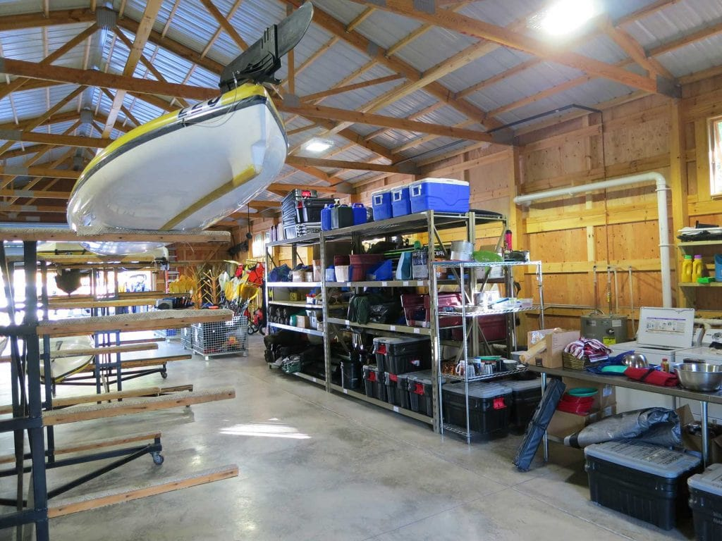 Our Little Sand Bay basecamp warehouse