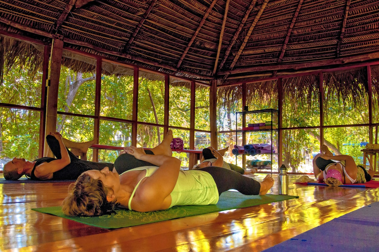 Yoga in the palapa