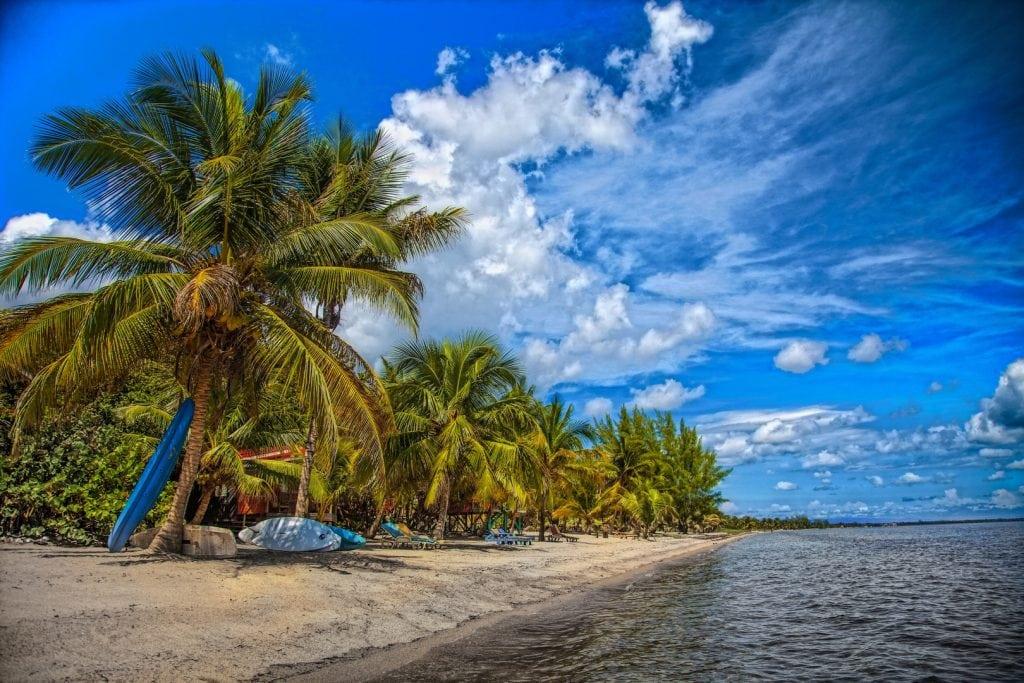 An empty beach awaits exploration
