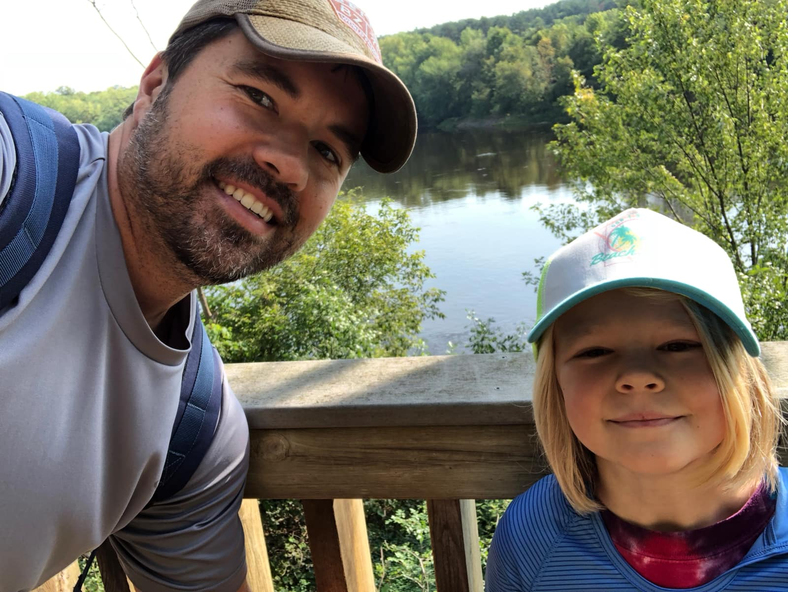 Andy and Clara camping by the river. -Wilderness Inquiry