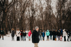 Students enjoy the Minnesota winter at Fort Snelling State Park