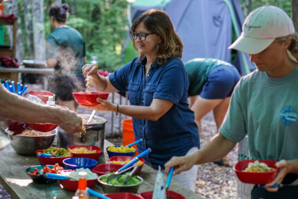 Gourmet trail mix - serving food at base camp
