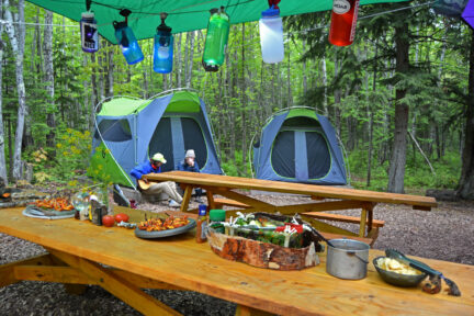 Gourmet trail mix - trail food spread at camp