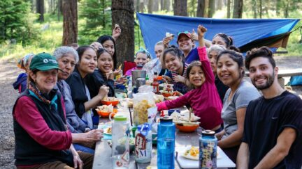 Creating experiences of a lifetime with a family meal in Glacier National Park