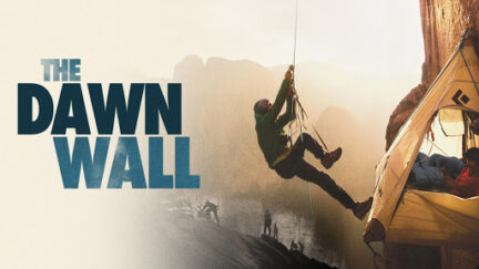 The Dawn Wall movie poster - image of climber on El Cap