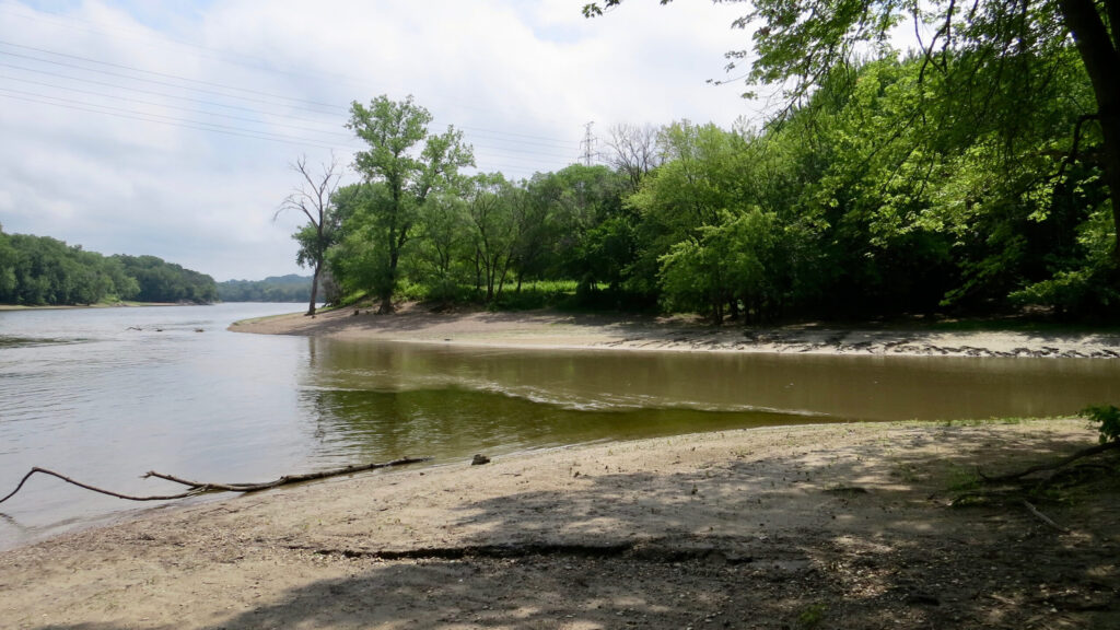 Bdote - where the Mississippi and Minnesota rivers meet