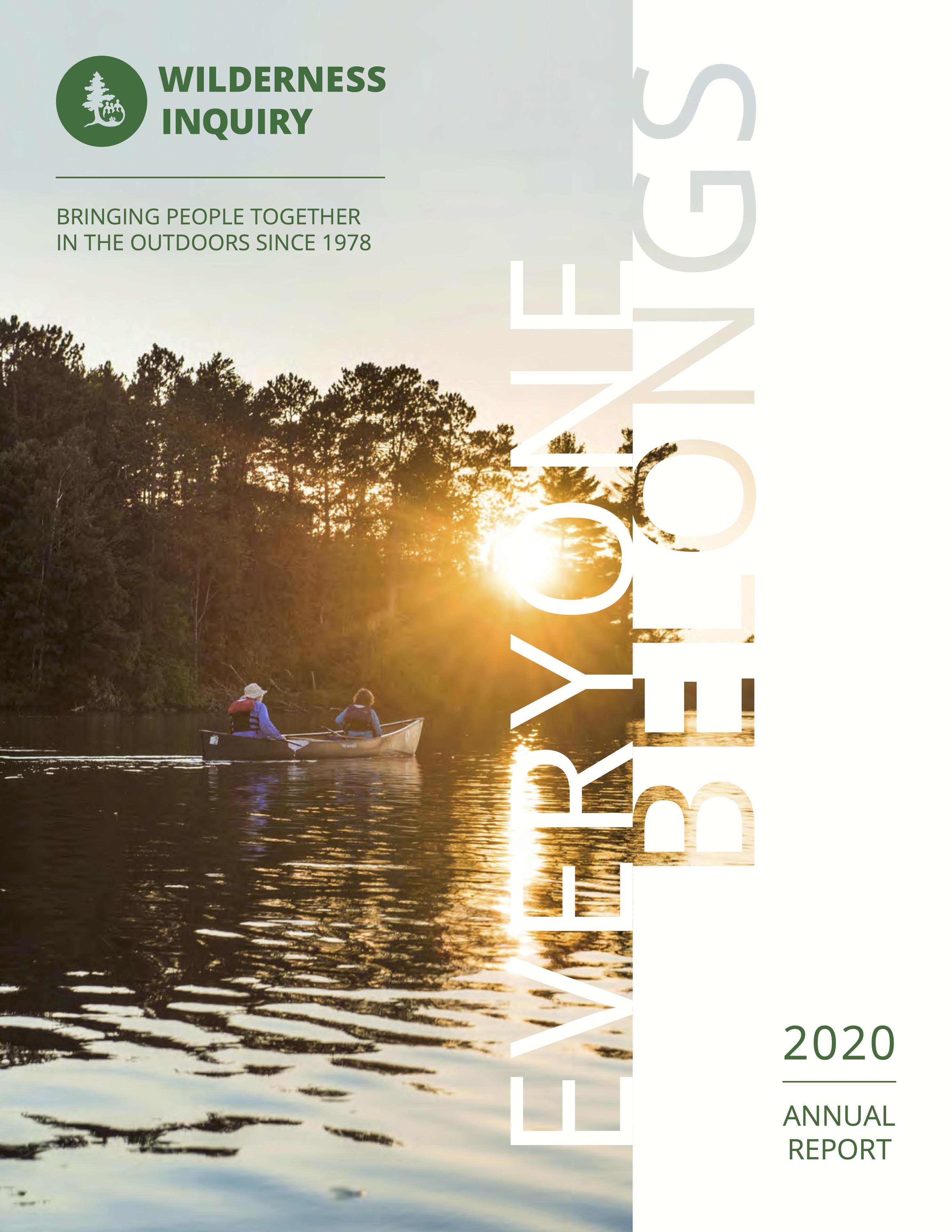 2019 Wilderness Inquiry Annual Report