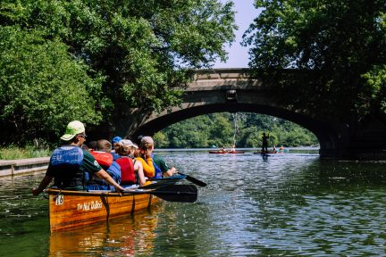 Credit recovery activities include paddling on local waterways