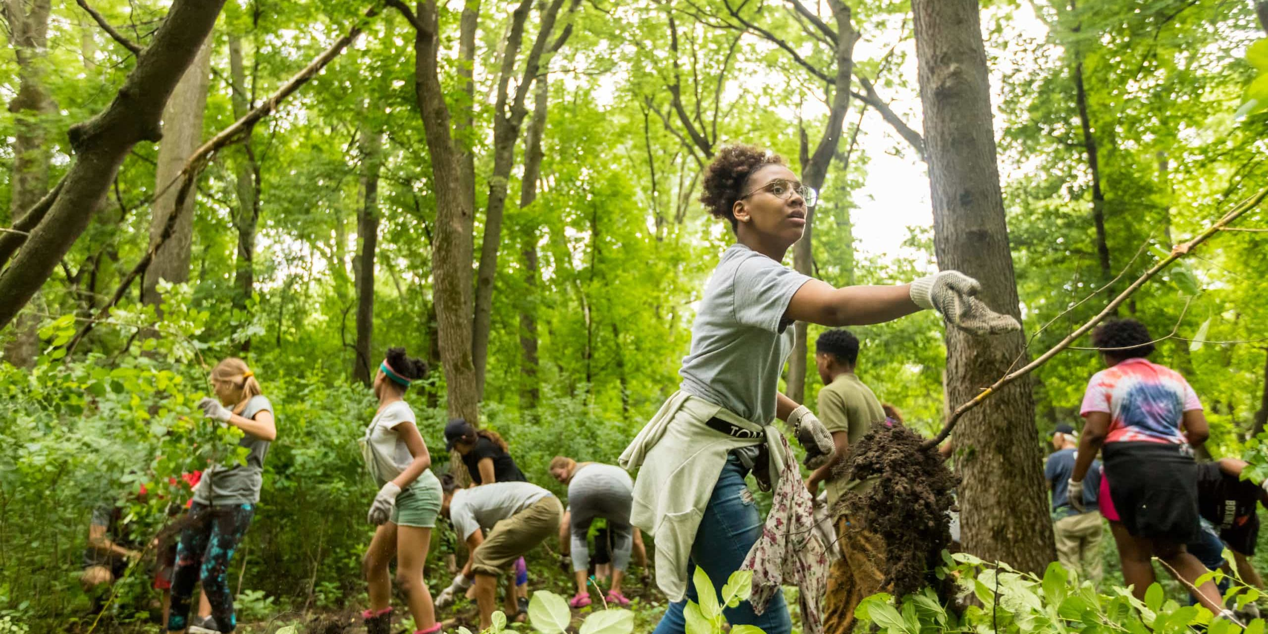 YMCA students canoeing and exploring the woods along Mississippi River¶2019 Annual Report option - Youth Careers